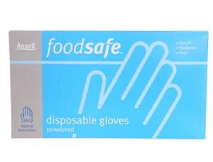 3 x ANSELL Food Safe Vinyl Disposable Gl
