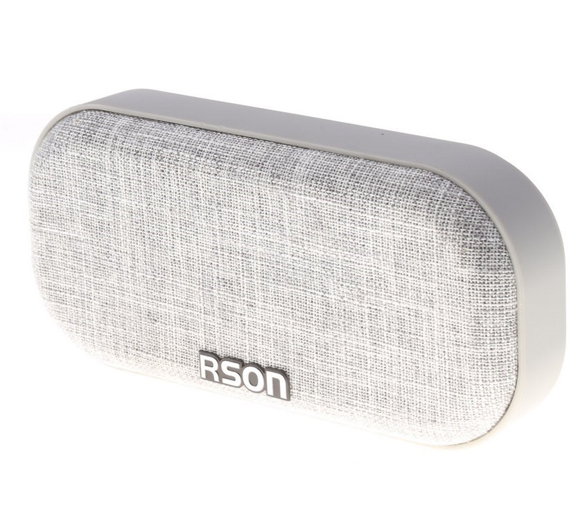 RSON Bluetooth Wireless Speaker Output 3W, Oval Shaped 190 x 90mm Grey Fabr