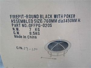 Round Black Firepit