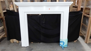 White Painted MDF Mantel