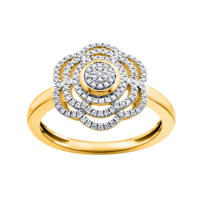 9ct Yellow Gold, 020ct Diamond Ring