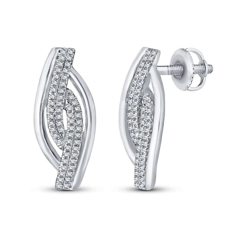 9ct White Gold, 0.17ct Diamond Earring