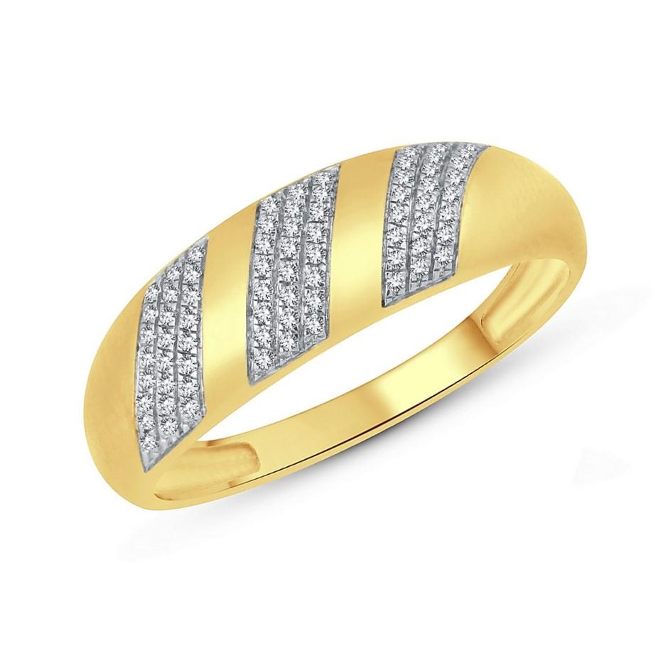 9ct Yellow Gold, 0.11ct Diamond Ring
