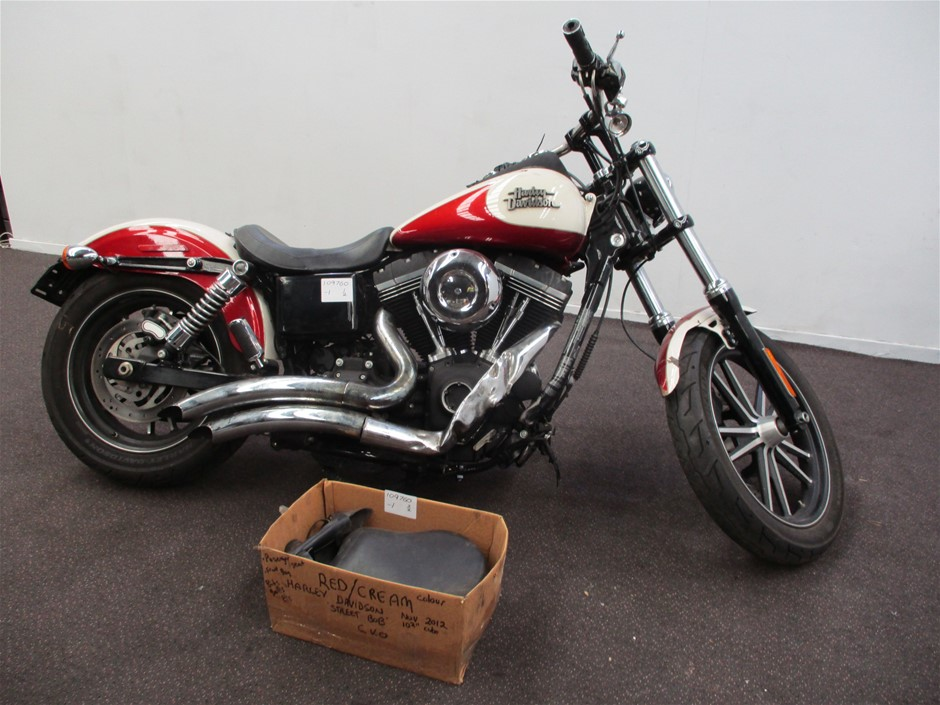 2012 Harley Davidson Dyna Street Bob FXDB 2 Seater Road Bike (WOVR)