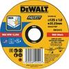 10 x DeWALT Cutting Disc 125 x 1 x 22.23mm Buyers Note - Discount Freight R