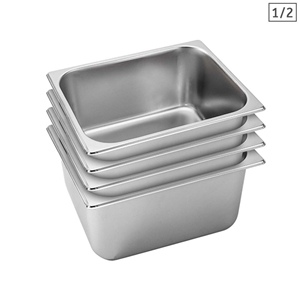 SOGA 4X Gastronorm GN Pan Full Size 1/2