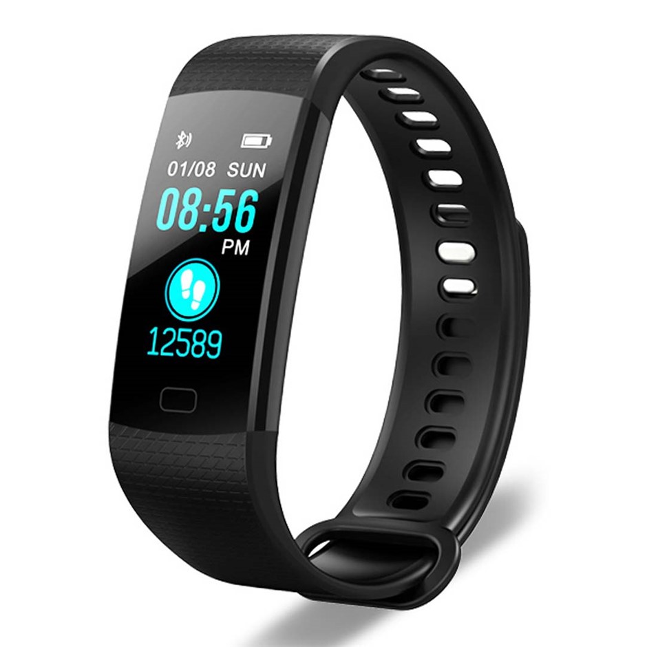 SOGA Sport Smart Watch Health Fitness Wrist Band Activity Tracker Black