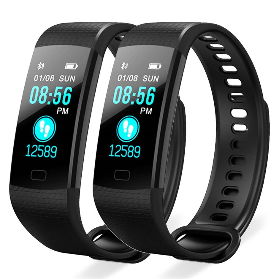 SOGA 2X Sport Smart Watch Health Fitness Wrist Band Bracelet Tracker Black
