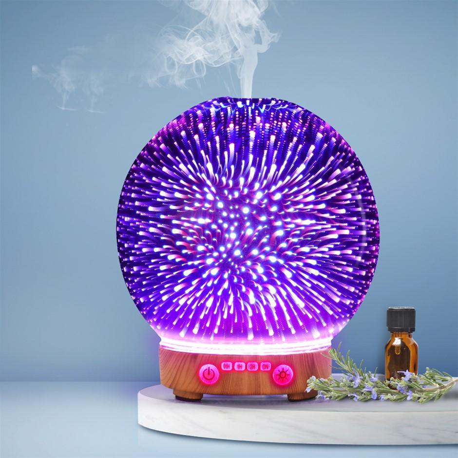 Devanti Aromatherapy Diffuser Aroma Humidifier Ultrasonic 3D Light Oil