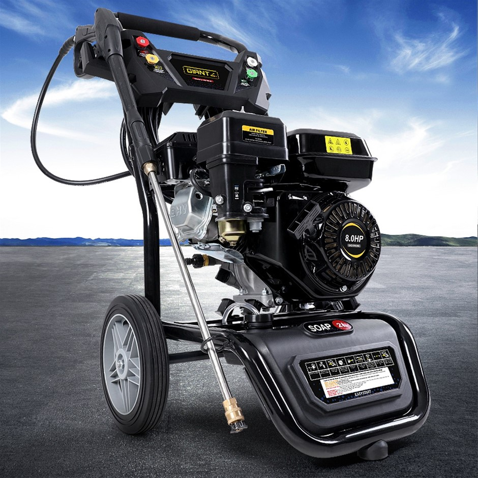 Giantz Petrol High Pressure Washer Gun Gurney Pump 8HP 4800PSI