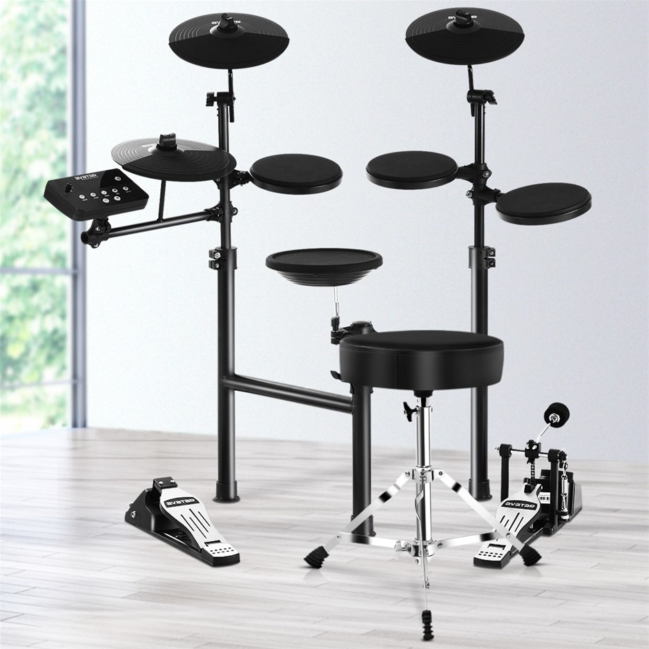 8 Piece Electric Electronic Drum Kit Drums Set Pad + Stool