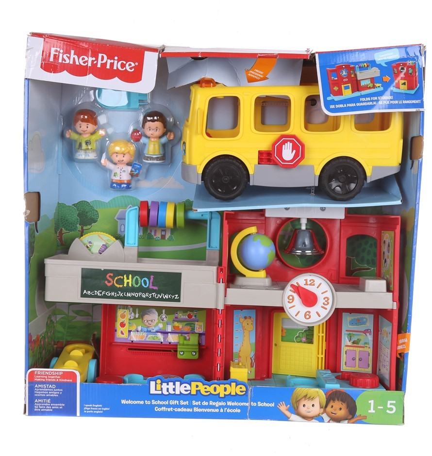 FISHER-PRICE Little People Welcome to School Gift Set, Friendly School Clas
