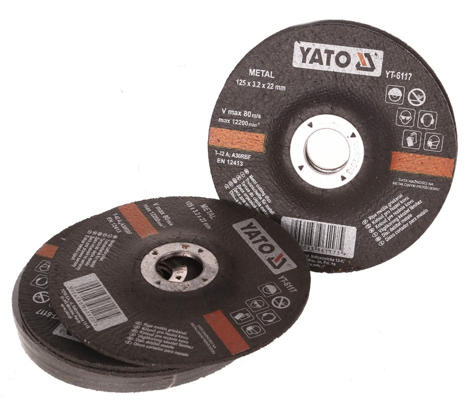 10 x YATO Metal Cutting Discs 125x3.2x22M. Buyers Note - Discount Freight R