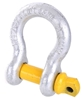 2 x Bow Shackles, WLL 3.2T, Screw Pin Type, Grade S. Yellow Pin. Buyers Not