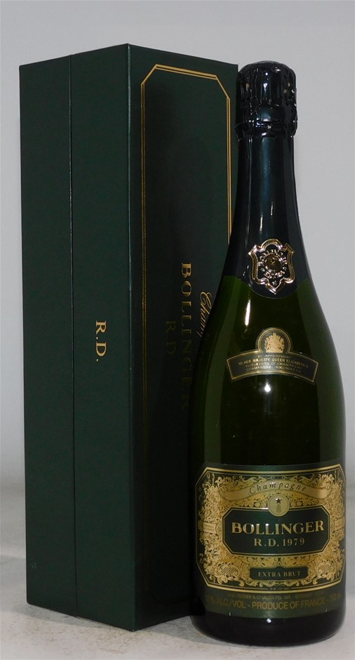 Bollinger `R.D.` Extra Brut 1979 (1 x 750mL), Champagne, France