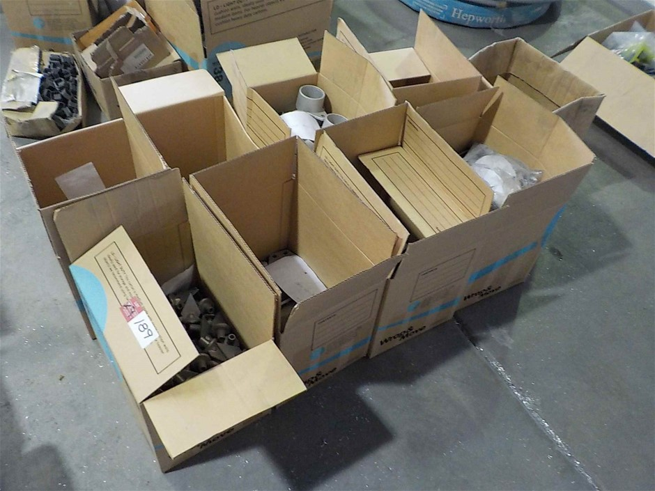 Quantity of 9 Containers of Assorted Metal Capping/Joining Components
