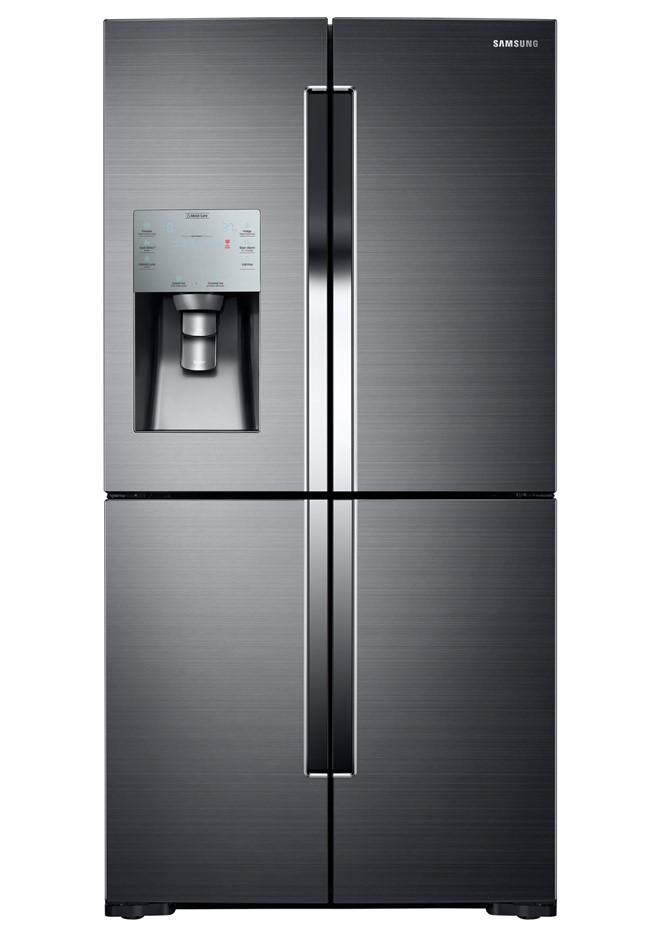 Samsung SRF867FSBLS 867L 4 Door French Door Fridge - Black