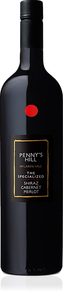 Penny's Hill `The Specialized` Shiraz Cab Merlot 2017 (6 x 750mL), SA.