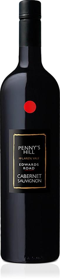 Penny's Hill Edwards Road' Cabernet Sauvignon 2017 (6 x 750mL), SA.