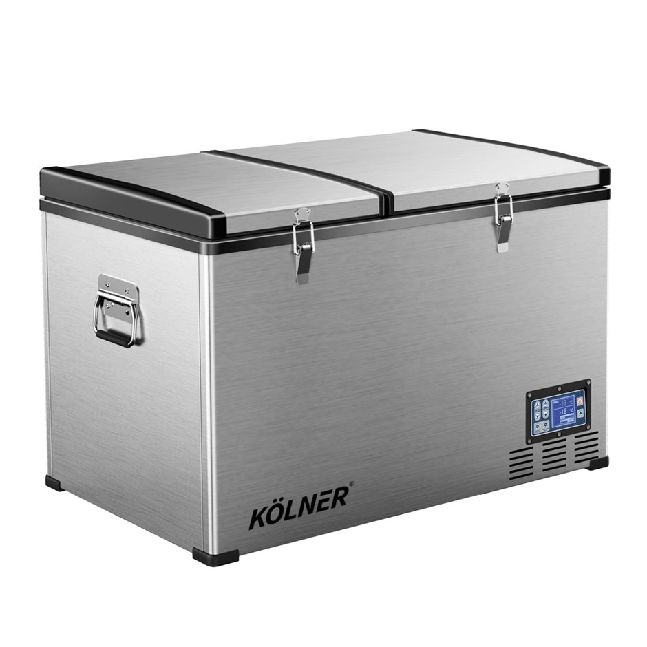 Kolner 125L Portable Fridge Freezer Cooler 12/24/240V Camping