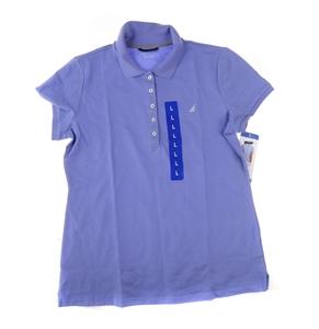 NAUTICA Women`s Polo Shirt, Size M, Shor