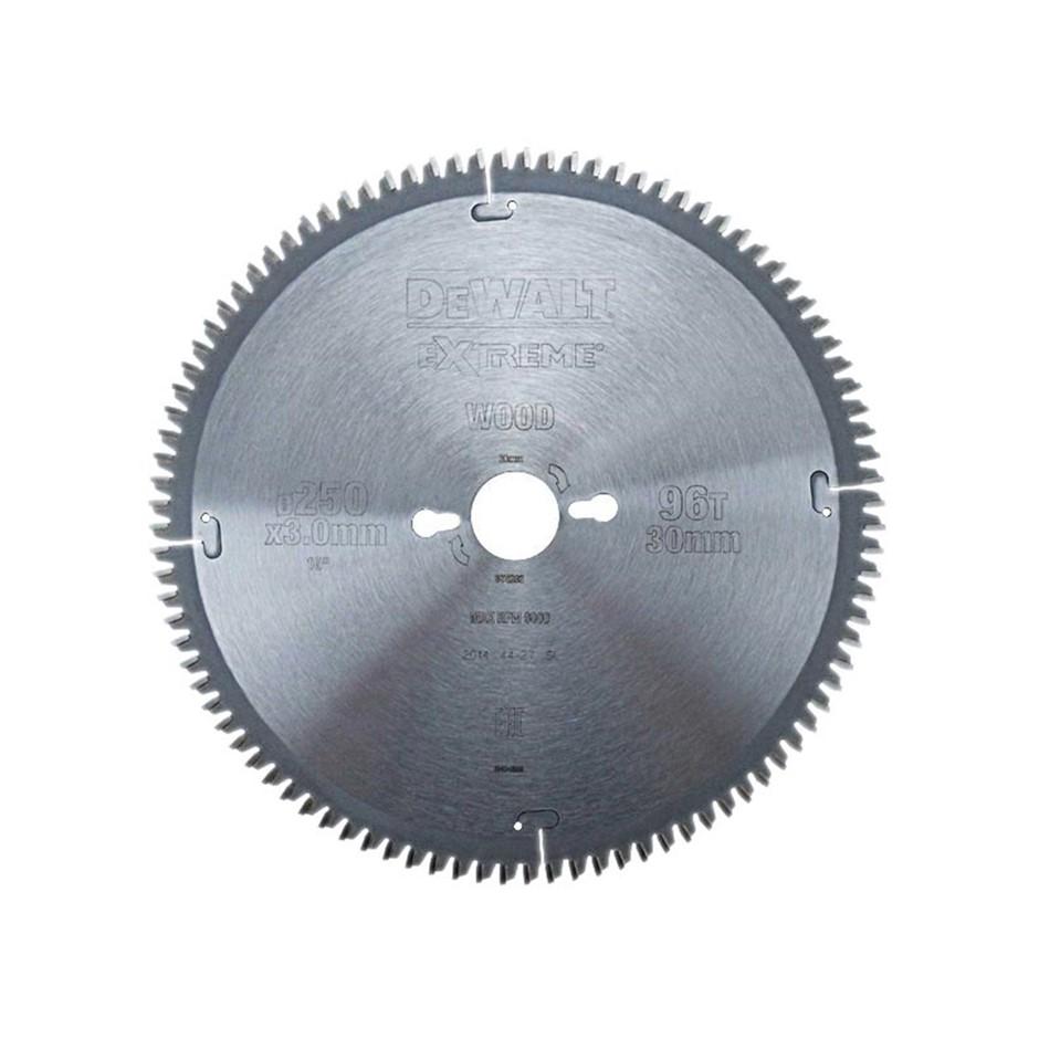 DeWALT Extreme Mitre Saw Blade 250 x 30mm x 96 Teeth (SN:DT4282-QZ) (268606