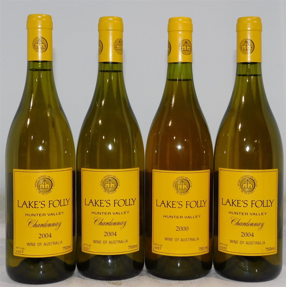 Pack of Assorted Lake`s Folly Chardonnay (4x 750mL) Hunter.