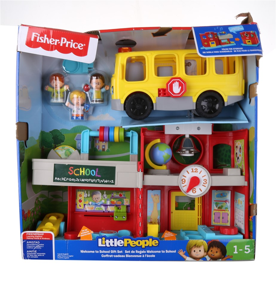FISHER-PRICE Little People Welcome to School Gift Set Friendly School Class