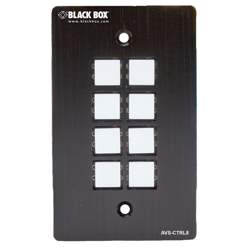 BLACK BOX AVS-CTRL8 Wallplate Control Panel - RS-232, 8-Button