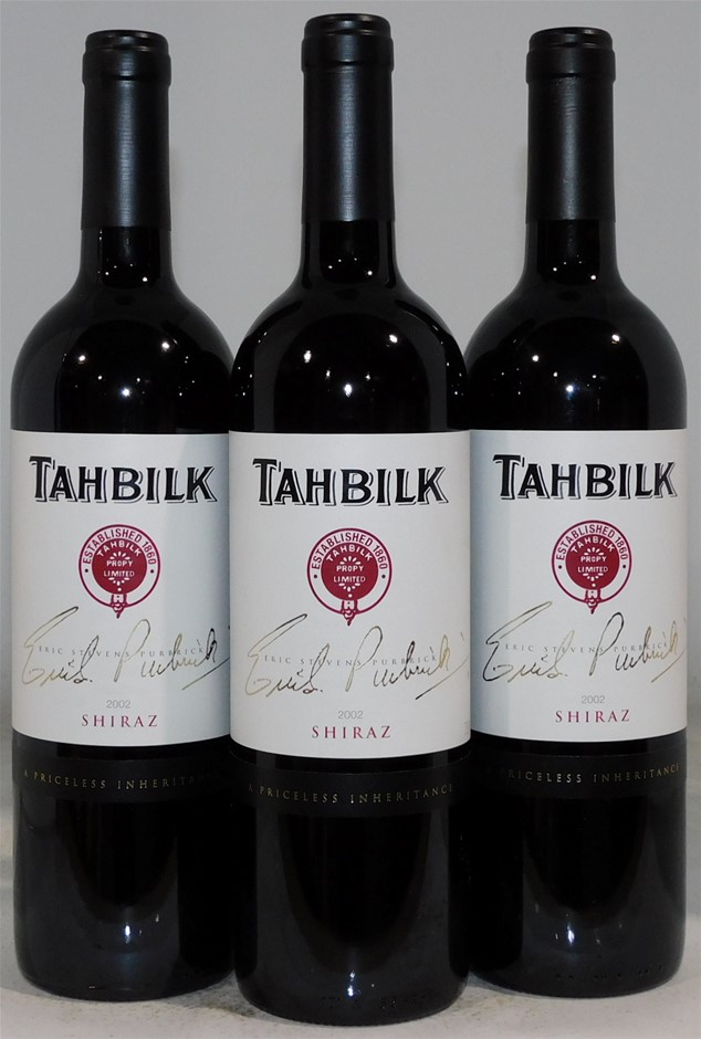 Tahbilk 'Eric Stevens Purbrick' Shiraz 2002 (3 x 750mL), VIC.