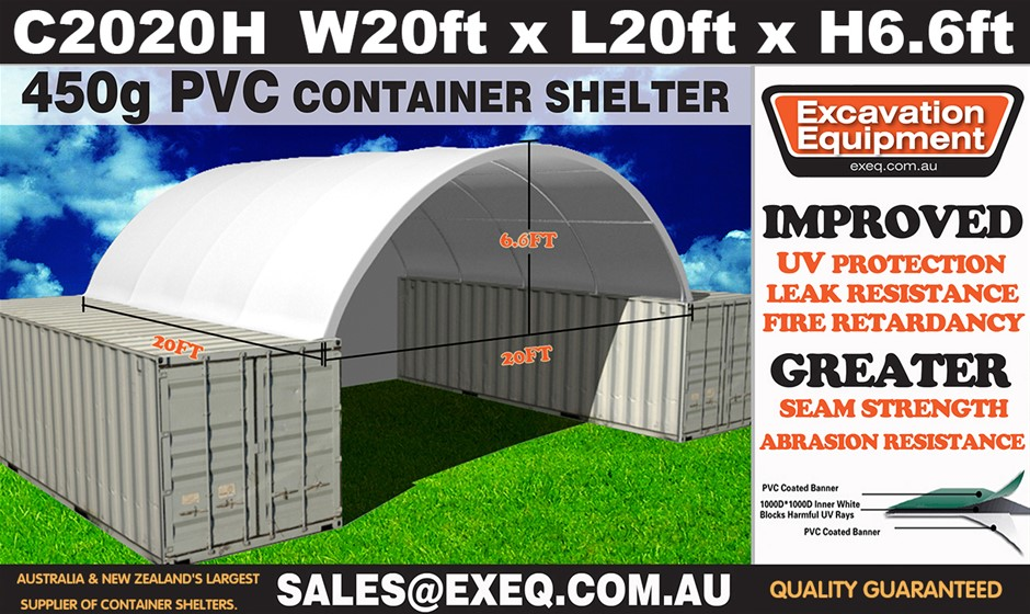 2019 Unused Heavy duty 20ft Container Shelter with end wall