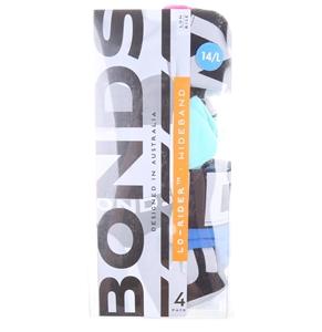BONDS Girl`s 4pk Low-Rider Wideband Unde