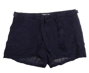 MATTY M Women`s Ribbon Tie Shorts, Size