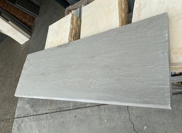 1xCrate Grey Sandstone Natural Split, Bullnosed 1210x400x28mm Approx 15pcs