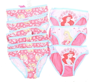 9 x Assorted Girl`s Themed Underwear, Si