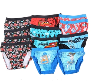 12 x Assorted Boy`s Themed Underwear, Si