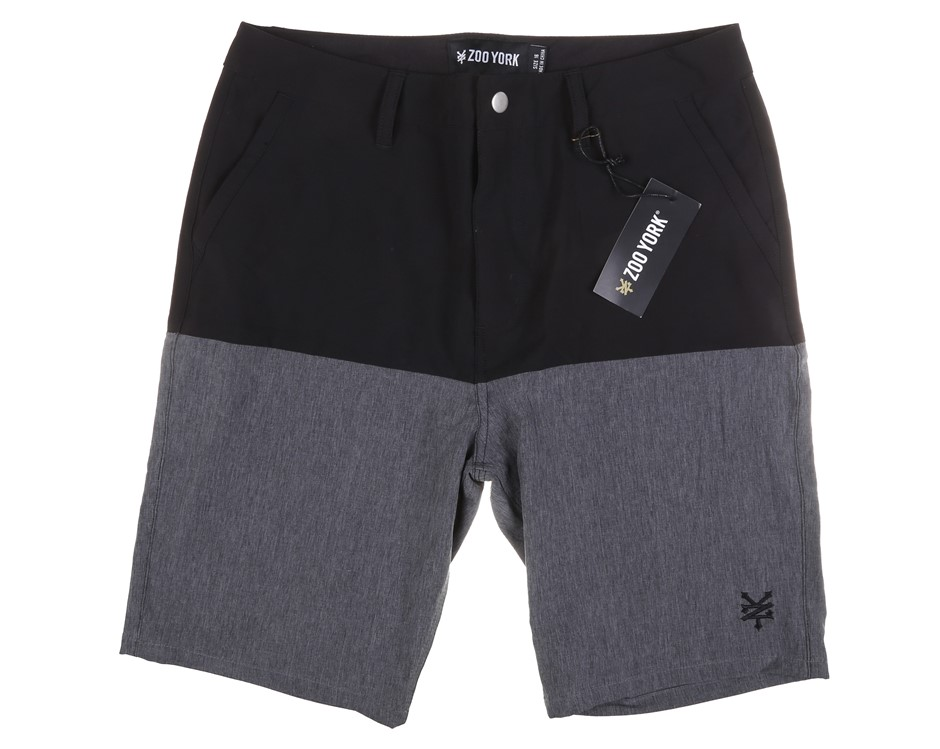 ZOO YORK Boy`s Shorts, Size 16, Polyester/Spandex, Black. Buyers Note - Dis