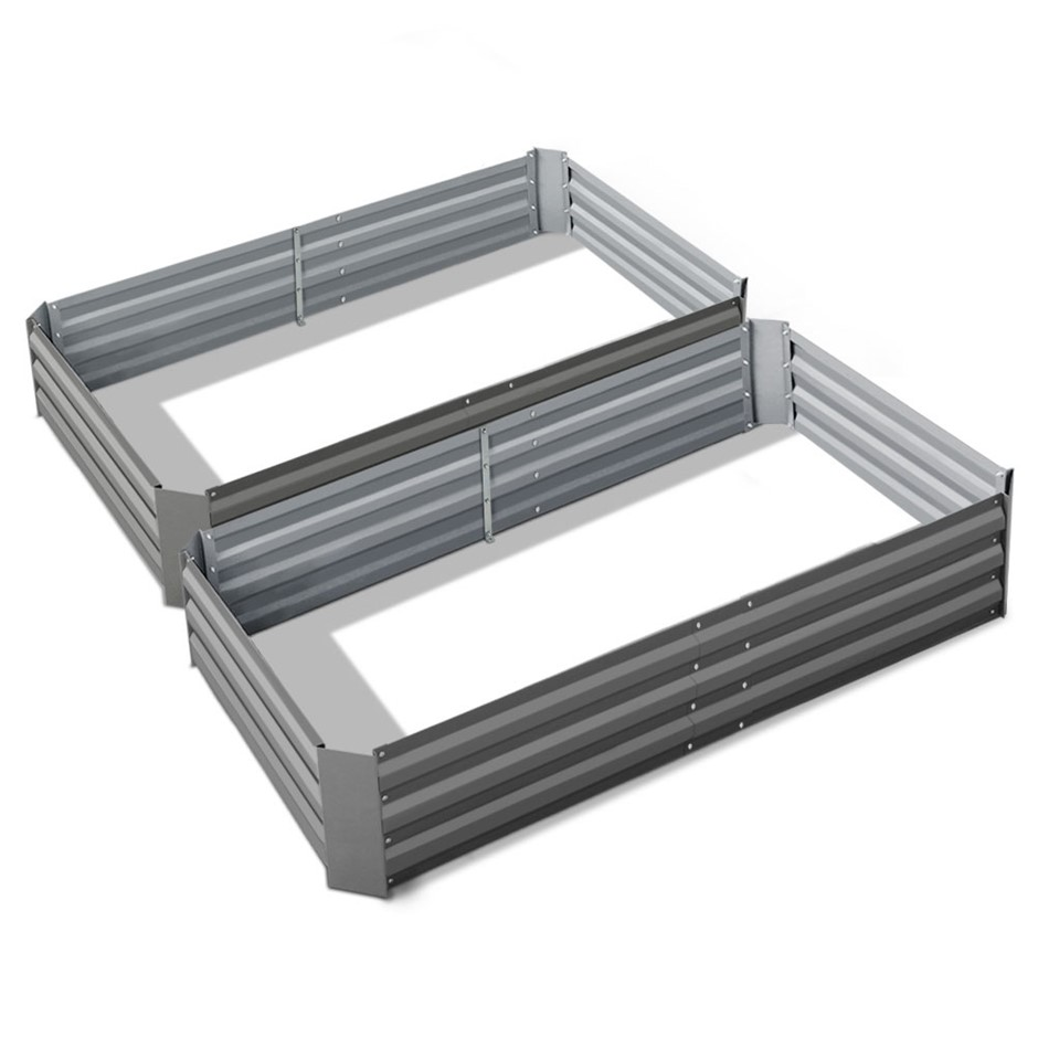 Greenfingers 2PCS Garden Bed 150x90x30CM Galvanised Steel Raised Planter