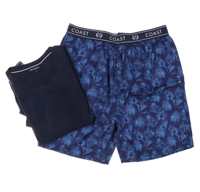 COAST CLOTHING CO Men`s 2pc Pyjama Set, Size S, 100% Cotton, Navy. Buyers N
