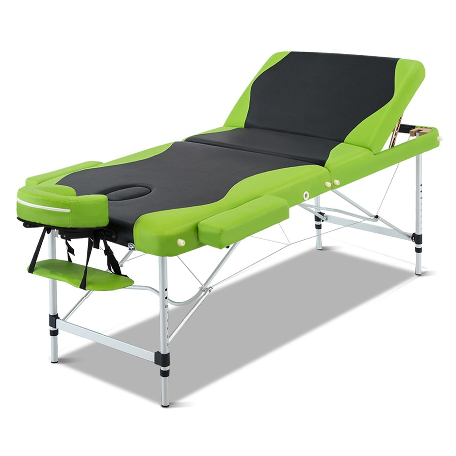 Zenses Massage Table Aluminium Portable 3 Fold Beauty Therapy Bed 75cm