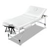 Zenses Massage Table 75cm Portable Aluminium 3 Fold Beauty Therapy Bed