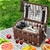 Alfresco 4 Person Wicker Picnic Basket Outdoor Insulated Gift Blanket