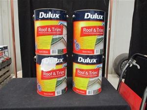 Qty 4 x Dulux 10 Litres Paint