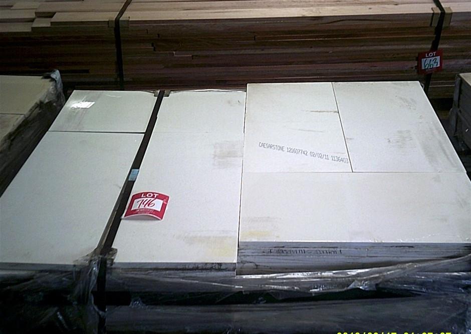 Pallet of Caesarstone Tiles. 600mm x 300mm x 20mm.