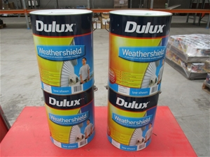 Qty 4 x Dulux 10L Paint