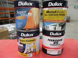 Qty 39 x Dulux 4L Assorted Paint and Pri