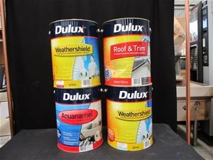 Qty 4 x Dulux 10 Litre Paint