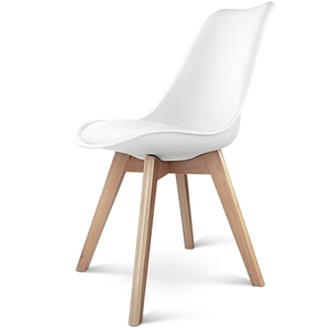 Artiss Set of 2 Padded Dining Chair - Wh