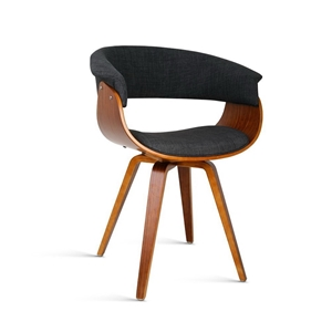 Artiss Timber Wood and Fabric Dining Cha