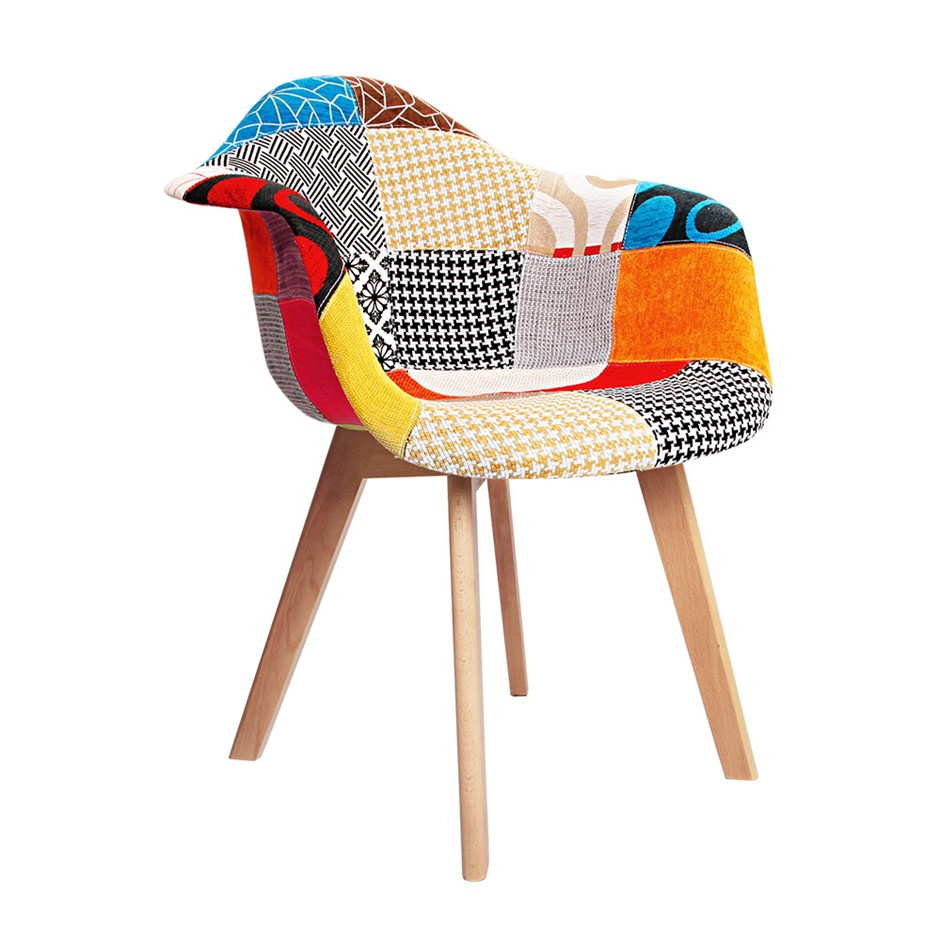 Artiss Set of 2 Fabric Dining Chairs